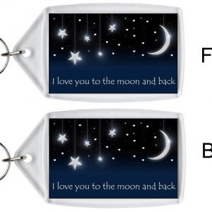 I Love You To The Moon And Back – Keyring
