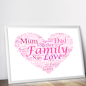 Personalised Football Shirt Word Art Print