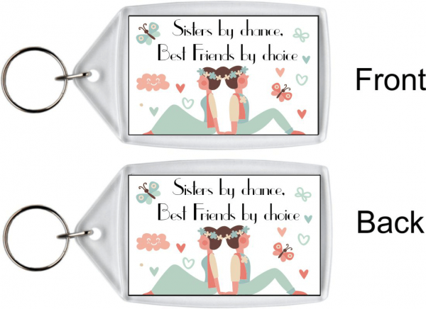 Birthday Gifts Sister Keyring – Best Friends By Choice