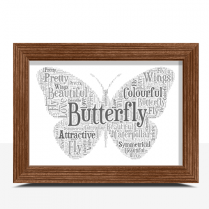Butterfly Shape Word Art Print