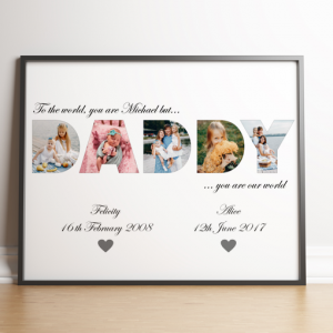 Fathers Day Gifts DADDY Photo Word Art Gift