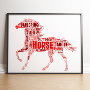 Animal Prints Personalised Horse Word Art Print
