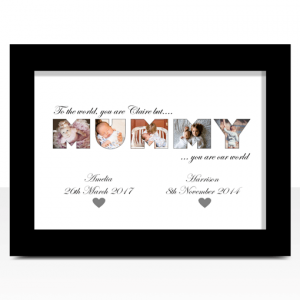Gifts For Her MUMMY Photo Word Art Gift