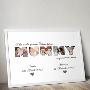 MUMMY Photo Word Art Gift