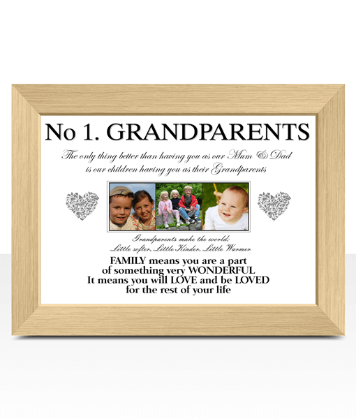 Personalised Grandparents Photo Gift