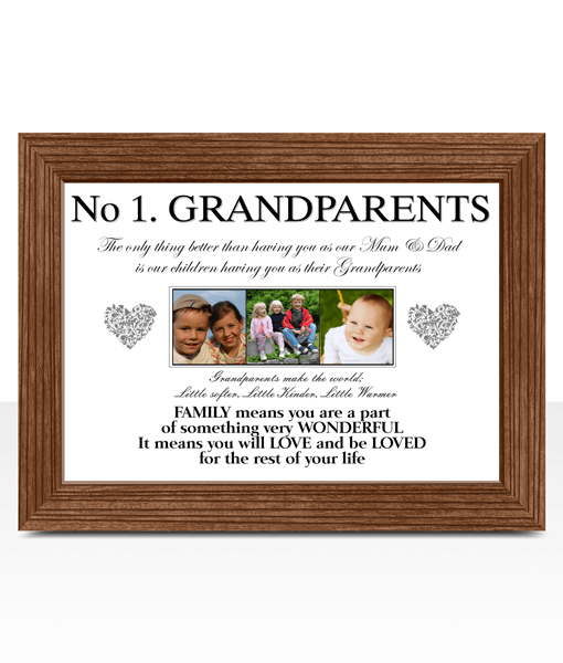 Fathers Day Gifts No 1 Grandparents Personalised Photo Gift