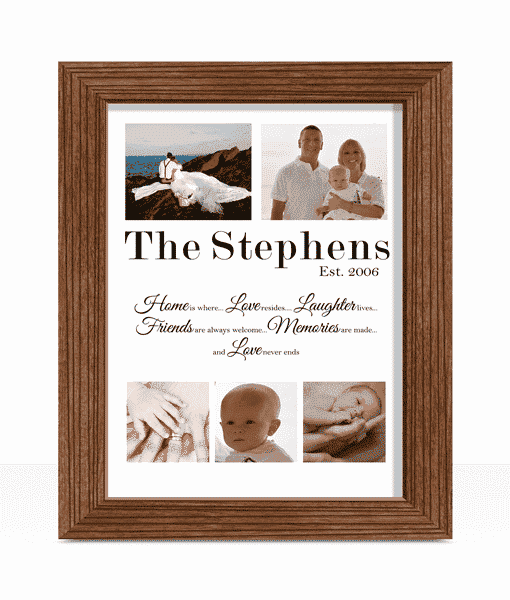Personalised Family Photo Print