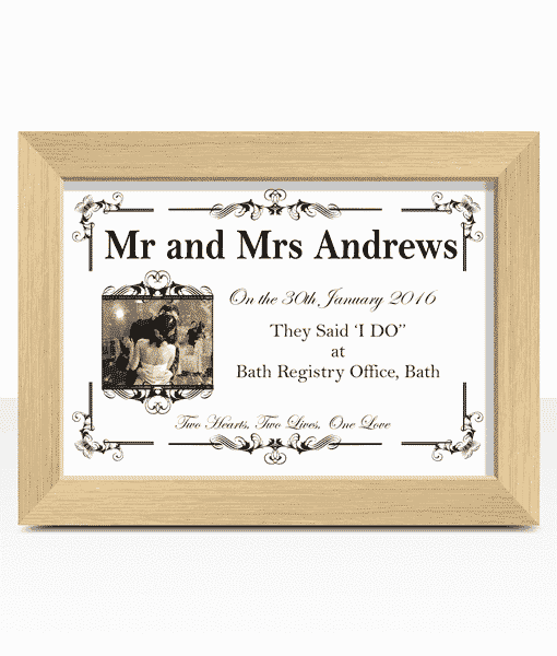 First Year Wedding Anniversary Paper Gift | ABC Prints