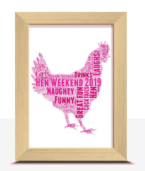 Personalised Hen Night Word Art Gift