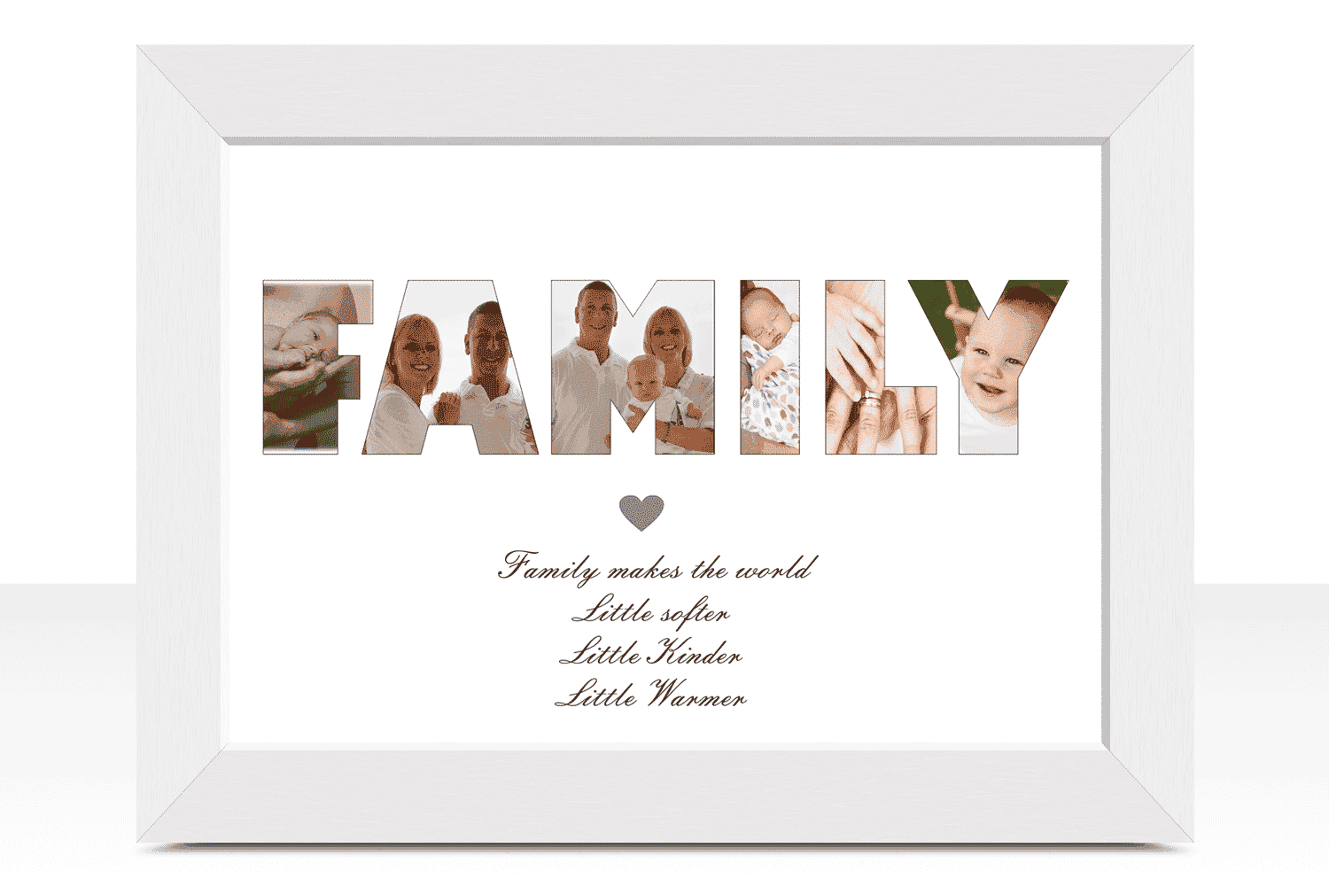 Family Daisy Picture Frame Personalized Photo Frames For