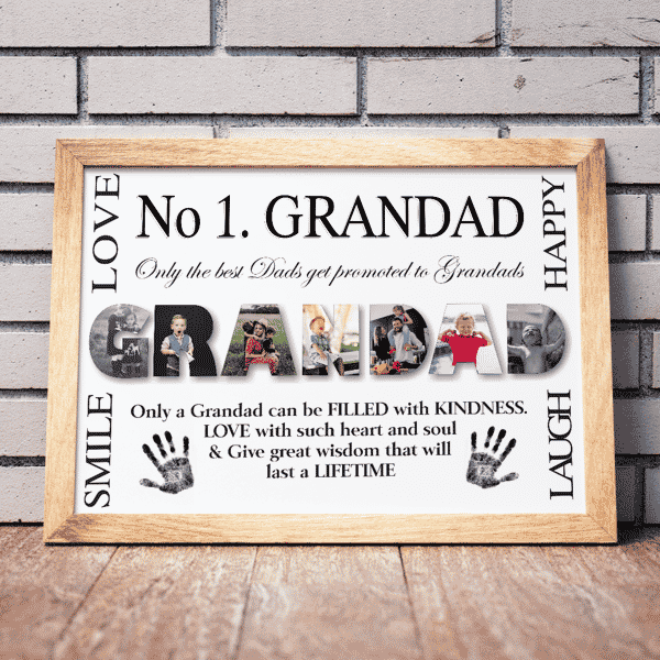 Fathers Day Gifts No 1 GRANDAD Personalised Photo Gift