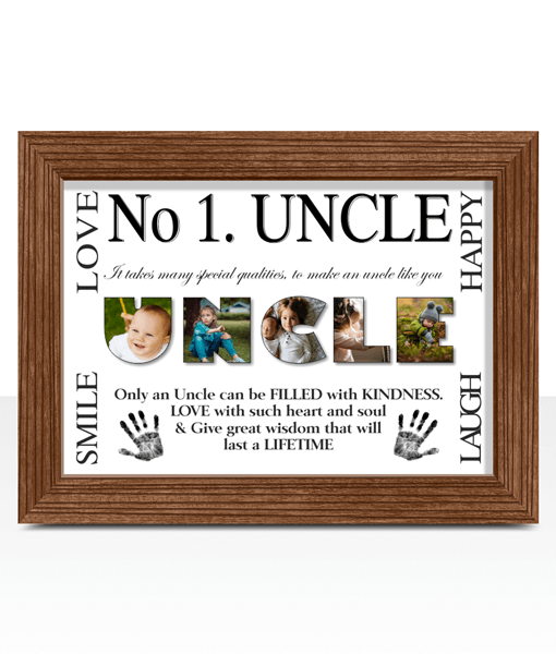 No1 UNCLE Photo Print Gift | ABC Prints