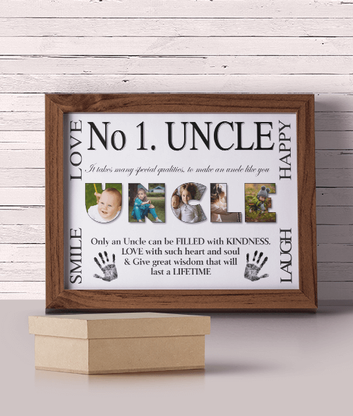 Fathers Day Gifts No 1 UNCLE Personalised Photo Gift