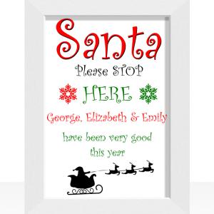 Santa Please Stop Here – Christmas Print