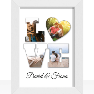 Engagement Gifts Personalised LOVE Photo Gift Print