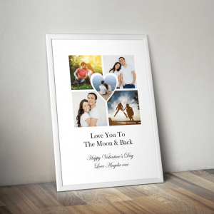 Anniversary Gifts Personalised Heart Photo Print
