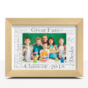 Word Art Photo Frame – Personalised Gift