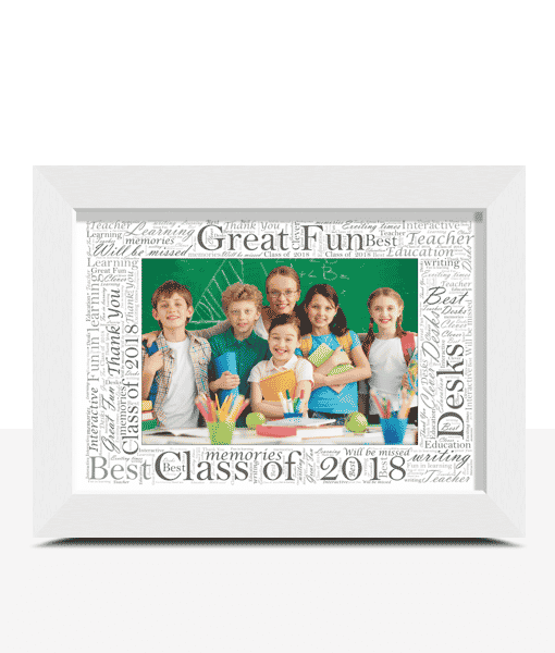 Word Art Photo Frame Personalised Gift Abc Prints