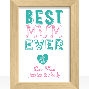 Gifts For Her Best Mum Ever – Mother's Day Print