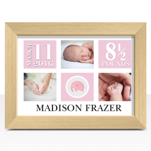 Baby Shower Gifts Personalised Baby Girl Photo Gift