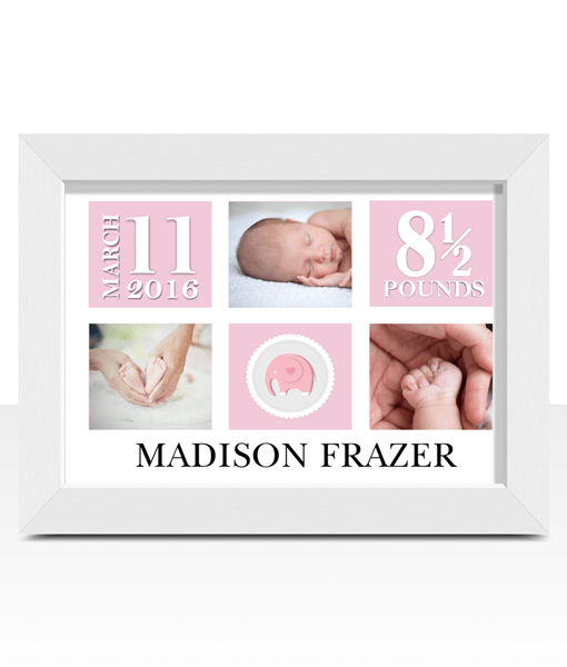 Personalised Baby Girl Photo Gift