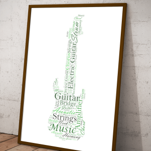 Personalised Electric Guitar Word Art