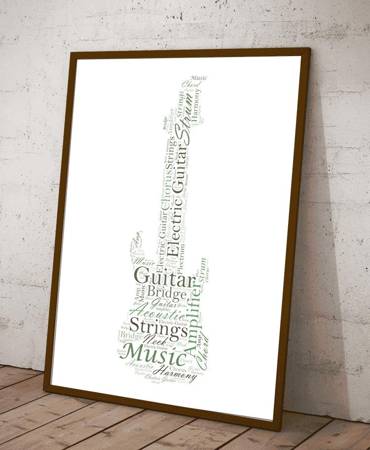 Print Example: Personalised Electric Guitar Word Art