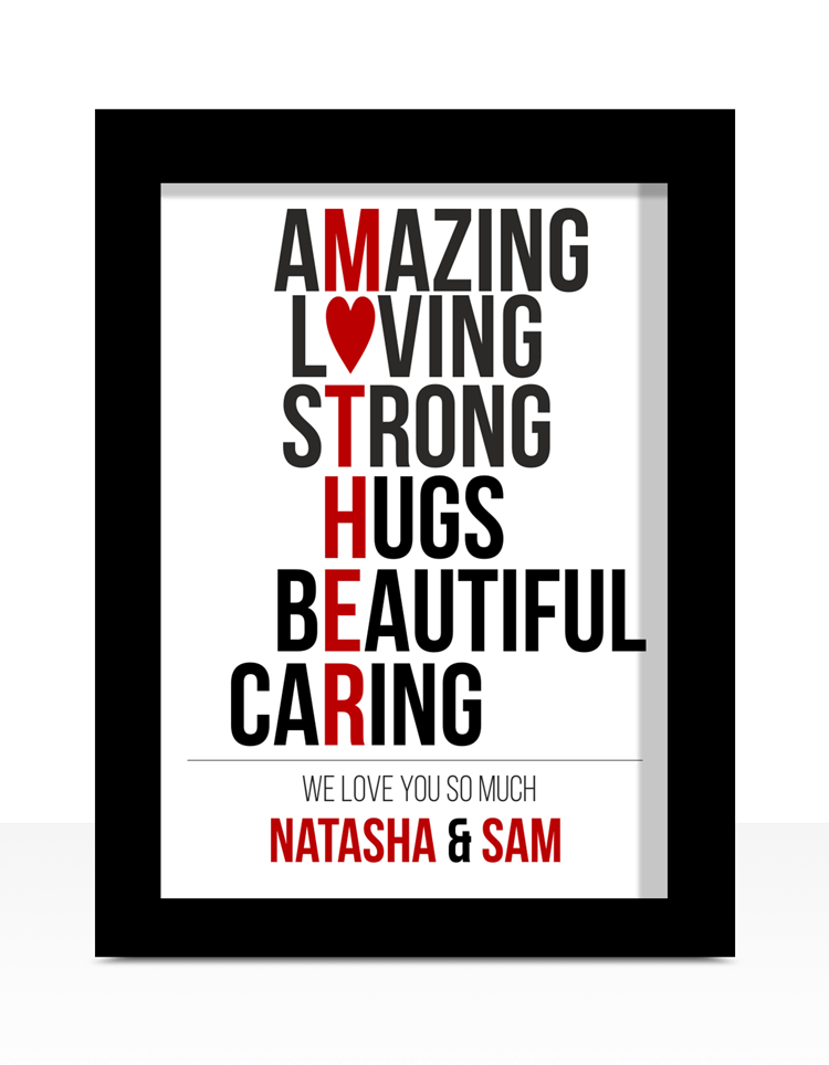 mother s day typography print gift abc prints