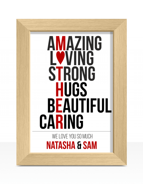 Mother's Day Typography Print Gift