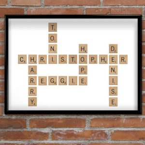 Crossword Style Word Print