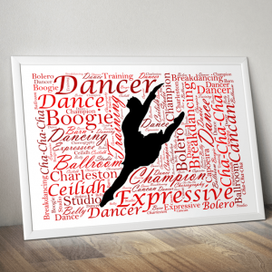Dance Personalised Dancer Word Art Gift