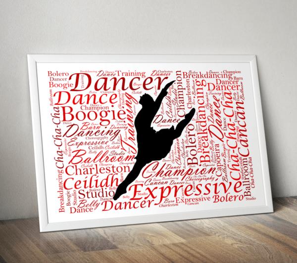 Dance Personalised Dancer Word Art Gift