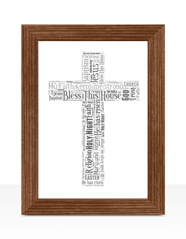 Cross Shape Word Art