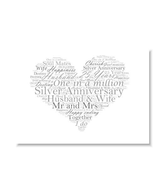 silver wedding 25th anniversary word