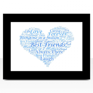 Personalised Love Heart Word Art Print
