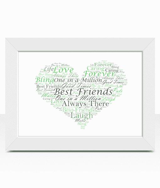 Personalised Heart Word Art Print | ABC Prints