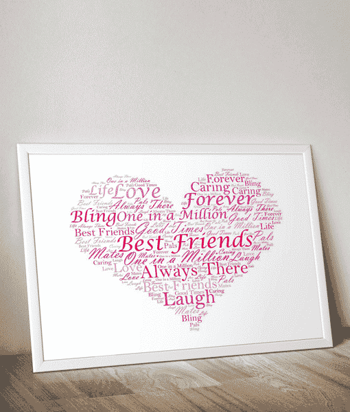 Personalised heart word art print gift abc prints personalised heart word art print pronofoot35fo Image collections