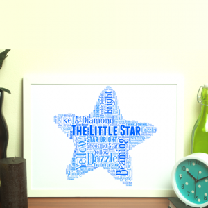 Star Word Art Print