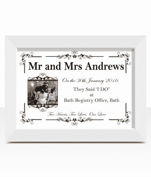 First Year Wedding Anniversary Paper Gift
