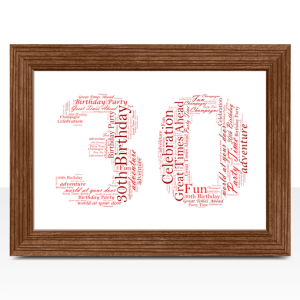 Anniversary Gifts 30th Birthday – Anniversary Word Art Gift