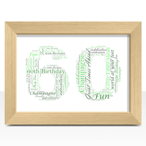 Anniversary Gifts 60th Birthday – Anniversary Word Art Gift