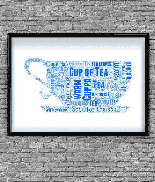 Food And Drink Tea Cup Shape Word Art