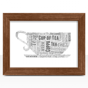 Tea Cup Shape Word Art