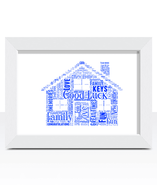 House Word Art – Personalised House Warming Gift