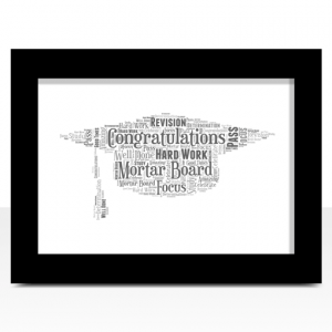 Gifts For Her Graduation Gift – Mortar Board Hat Word Art