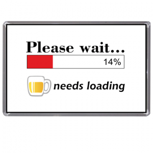 Funny Beer Fridge Magnet