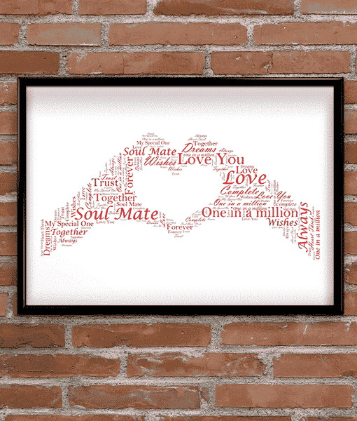Personalised Hand Heart Word Art | ABC Prints