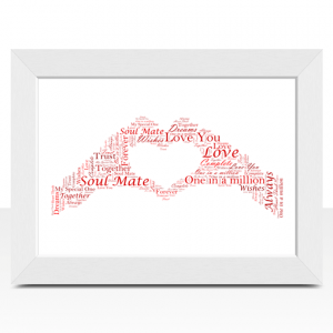 Personalised Hand Heart Word Art
