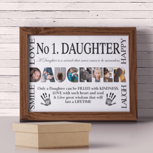 Gifts For Her No 1 DAUGHTER Personalised Photo Gift
