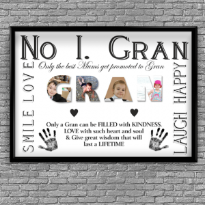 Gifts For Grandparents No 1 GRAN Personalised Photo Gift
